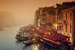 Leinwanddruck Bild - Grand Canal at a foggy evening.