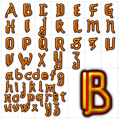 abc alphabet font background akashi design