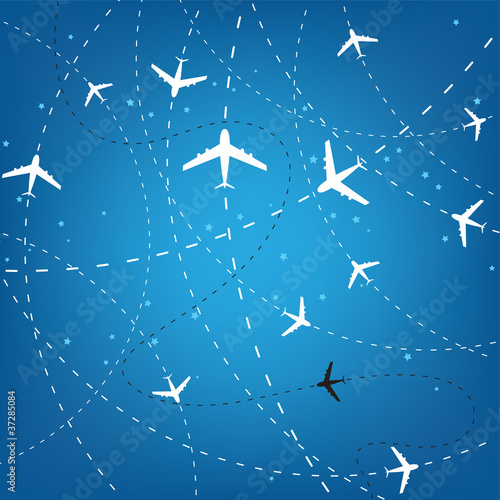 Airplane Routes And Stars