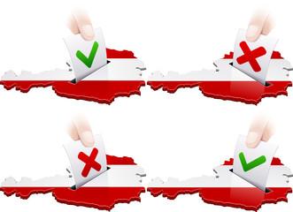 Référendum en Autriche : pour ou contre (détouré)