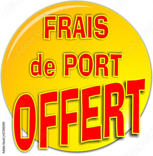 bouton frais de port offert de gribouilleeva fichier vectoriel libre de droits 37285690 sur