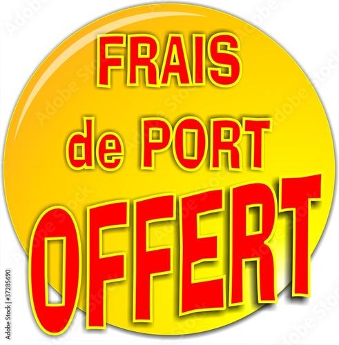 Bouton frais de port offert fichier vectoriel libre de droits sur - Prix des frais de port ...