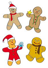 omini di pan di zenzero per Natale