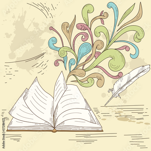Abstract opened book background