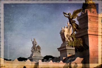 Vittoria alata, vittoriano, colonna traiana, Roma