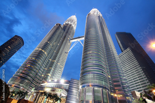 night time in front of petronas