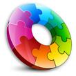 colored circular puzzle