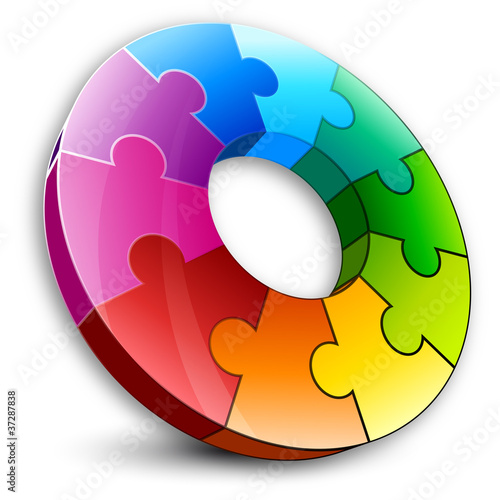 colored circular puzzle