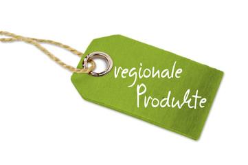 Anhänger aus Holz mit regionale Produkte