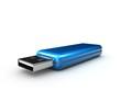 USB-Stick 3D-blau