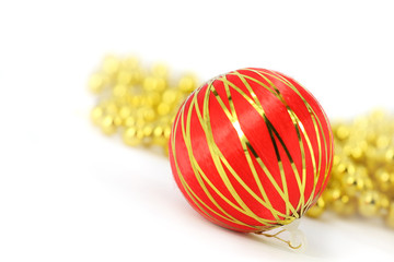 Merry cristmas red ball decoration