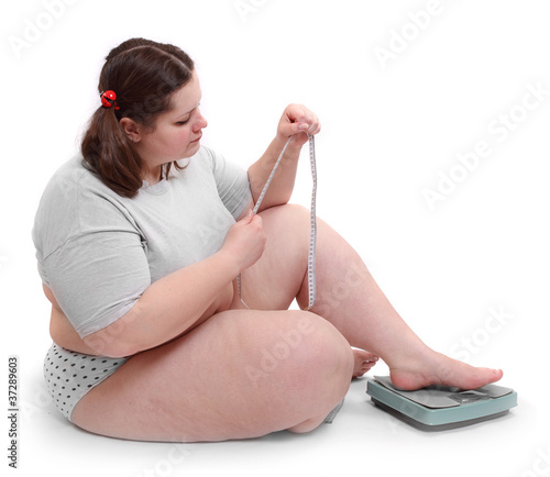 Overweight woman.