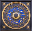 Astrological zodiac clock