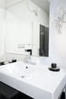 Modern sink in bathroom
