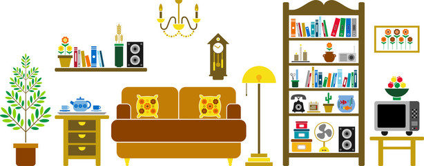 vectorized living room