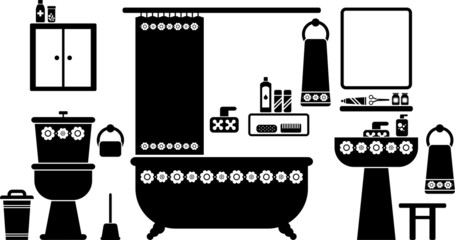 vectorized bathroom