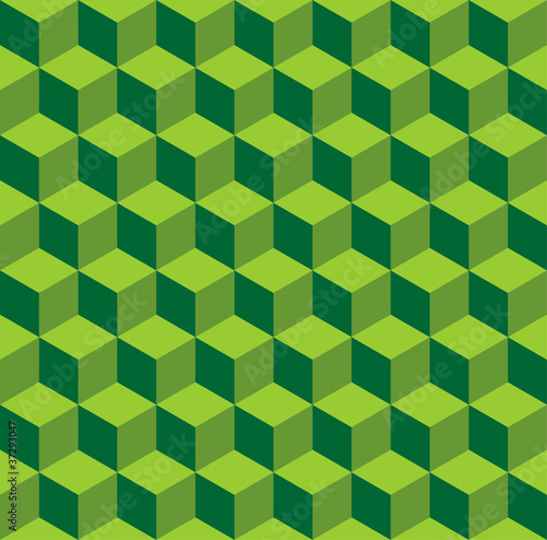 Isometric pattern in three green color tones