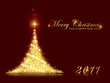 Festive sparkling Christmas tree background