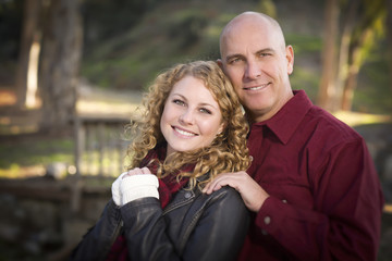 Loving Daughter and Father Portrait