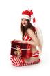 Weihnachtsengel mit Geschenk