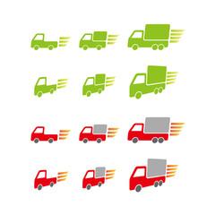 走るトラック