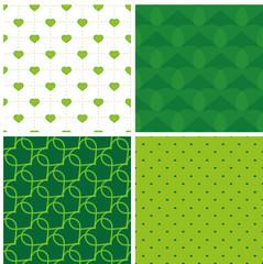 Endlosmuster Herz grün 1