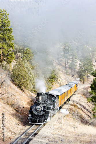 Durango   Silverton Narrow Gauge Railroad, Colorado, USA