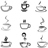 Fototapety Coffee Cup - isolated vector icon
