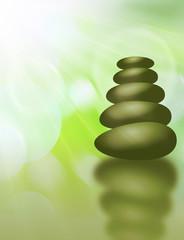 zen steine licht