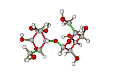 The molecule of lactose (milk sugar)