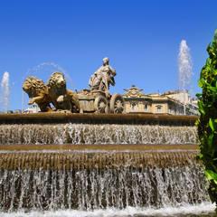 Cibeles statue Madrid fountain in Paseo Castellana