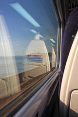 view from train carriage