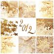 2012, collage Noël doré