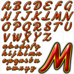 abc alphabet background font damion design