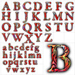abc alphabet background font tribal design