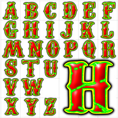 abc alphabet background font carnivale design