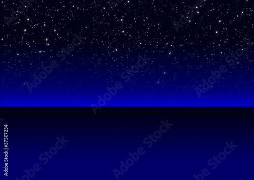 Nachthimmel, Nachts, Sternenklar, sternenklarer Himmel, blau