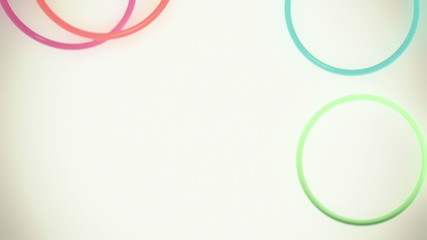 Falling, Bouncing Colorful Rings in Slow Motion Loop