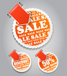 Vector shopping labels: sale and discount