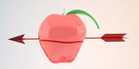 freccia mela vetro obiettivo centro menu dessert
