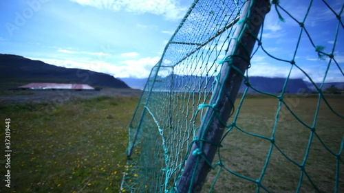 Football field in the Icelandic village
