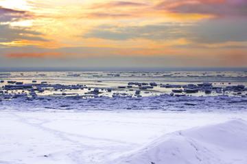 Winter an der Küste