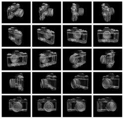 camera rotation - 20 frames from animation