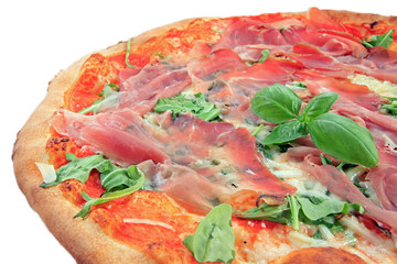 Pizza crudo e rucola