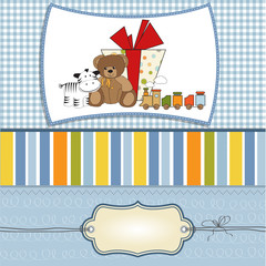 birthday greeting card with presents