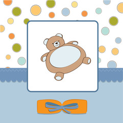baby shower card with teddy