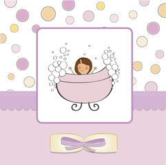 girl shower card