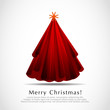Abstract Modern Red Christmas Tree