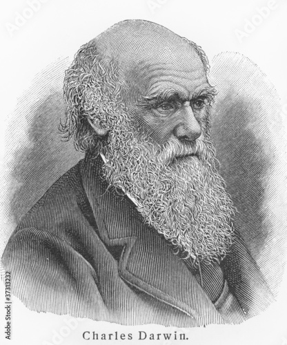 Leinwanddruck Bild Charles Darwin