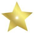 Goldener Stern mit Strahlen